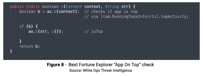 Figure 8 Best Fortune App on Top Chk